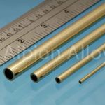 Brass tube alb 9x0.45mm (2)