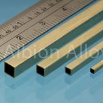 Brass tube square alb 3.96x3.96mm (2)