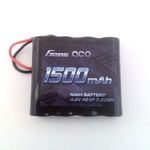 Batt ga 4.8v1500 (jr lead) rx